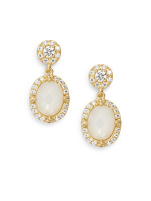 Mother-Of-Pearl & 14K Yellow Gold Vermeil Drop Earrings