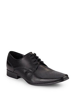 Brodie Perforated Leather Derby Shoes