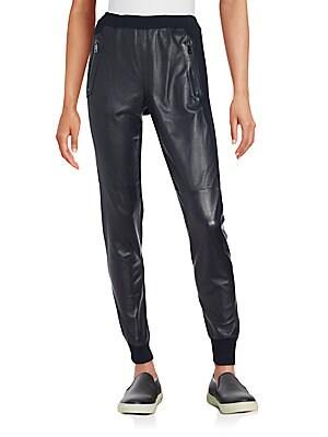 Mixed Media Cuffed Pants