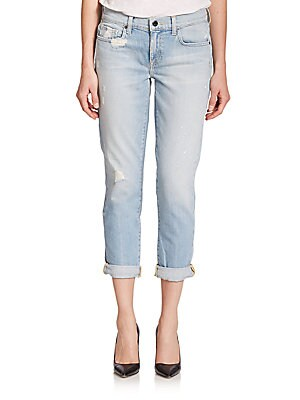 Alexa Distressed Slim Boyfriend Jeans