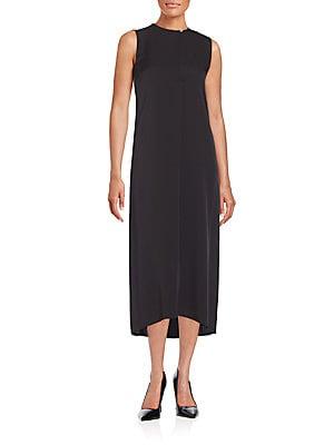Sehnr Keyhole Front Silk Dress