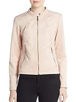 Knit-Paneled Jacket