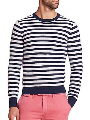 Terry Striped Sweater