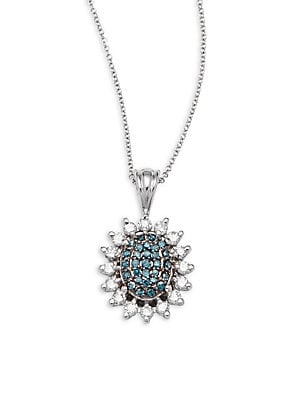 Click here for 14K White Gold Diamond Pendant Necklace prices