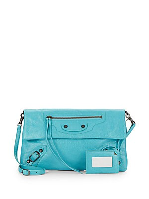 Leather Classic Envelope Strap Crossbody