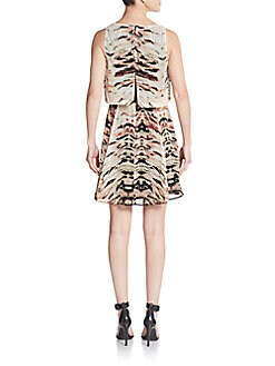 Abstract-Print Popover Dress