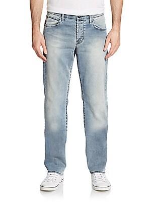 Straight-Leg Five-Pocket Jeans