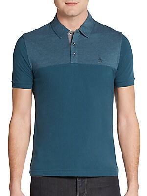 Mearl Tonal Cotton Polo Shirt