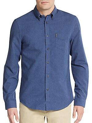 Regular-Fit Brushed Cotton Sportshirt