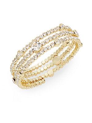 Rhinestone Coil Bracelet