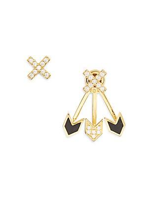 Crossroads Crisscross Ear Jacket & Stud Set