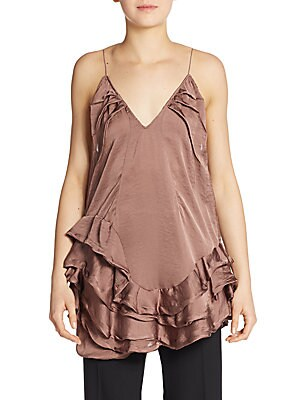 Satin Ruffled Top