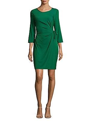 Zoe Solid Wrap Dress