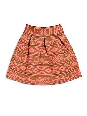 Girl's Fair Isle Circle Skirt