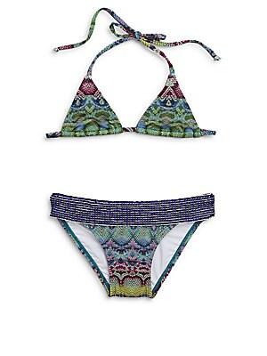 Little Girl's Two-Piece Beaded Bikini