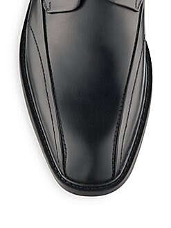 Seamed Leather Derby Shoes
