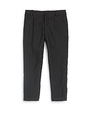 gucci kids toddlers polka dots jacquard pants