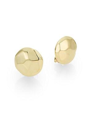 Glamazon 18K Yellow Gold Stud Earrings