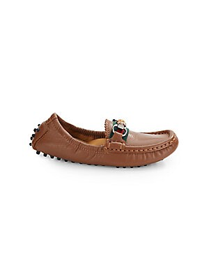 Toddler's Leather Driver Loafers
