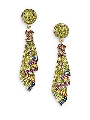 Anytime Sparkle Swarovski Crystal Drop Earrings/Goldtone
