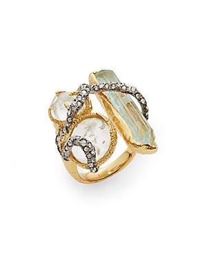 Elements Moonlight Crystal Vine Three-Stone Ring