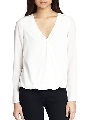 Alyssa Wrap-Effect Blouse