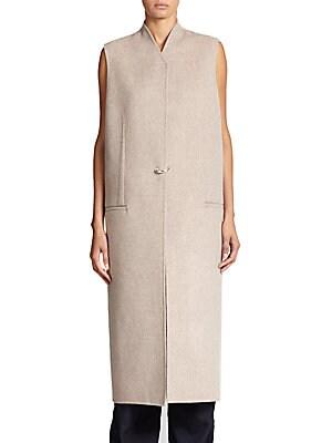 Long Wool & Cashmere Vest