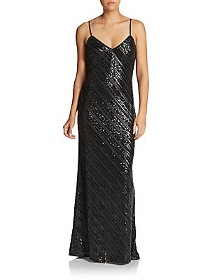 Sequined Slip Gown