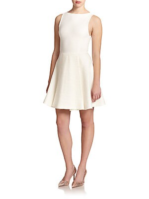 Emerson Bouclé-Skirt Knit Fit-And-Flare Dress
