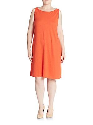 Cotton-Blend Shift Dress