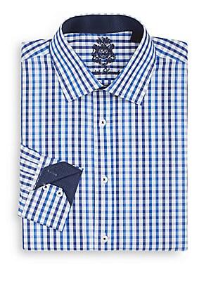 Regular-Fit Checked Dress Shirt