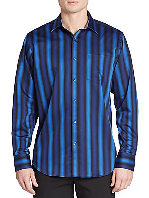 Classic-Fit Candy Striped Sportshirt