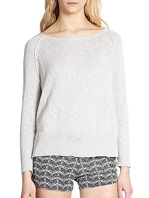 Lynn Cotton-Linen Pullover