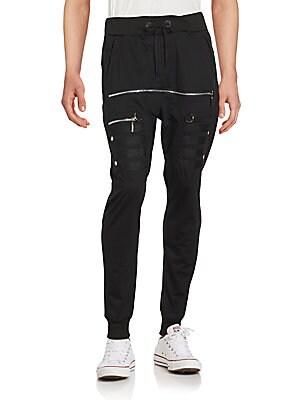 Cotton Blend Jogger Pants