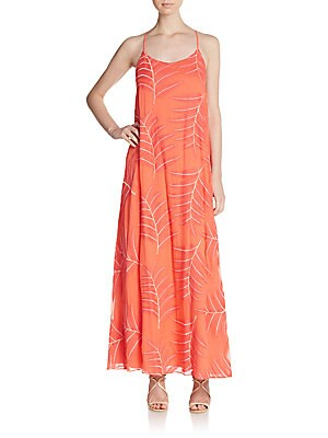 Kelly Embroidered Silk Chiffon Maxi Dress