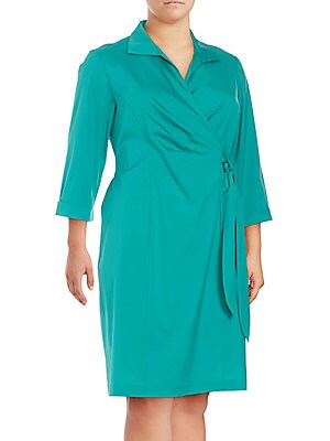 Edeline Faux-Wrap Dress
