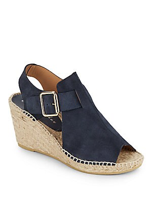 Dawn Suede Wedge Espadrille Sandals