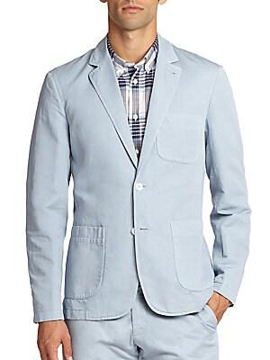 Cotton-Blend Pastel Blazer
