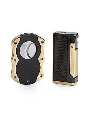 Monza Lighter & Cigar Cutter Gift Set