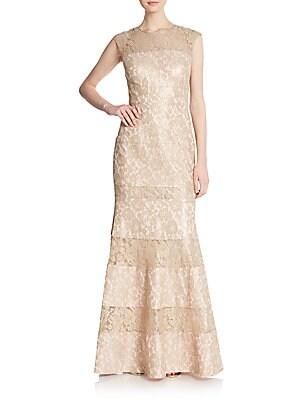 Bonded Lace Trumpet Gown