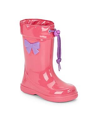 Girl's Drawstring Rain Boots