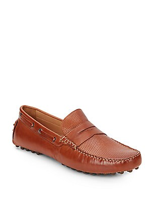 Perforated Leather Penny Drivers