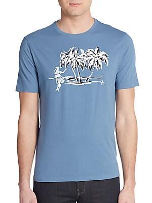 Palm Tree Graphic Cotton Tee