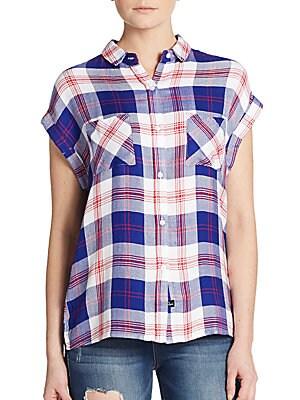 Britt Plaid Dolman Shirt