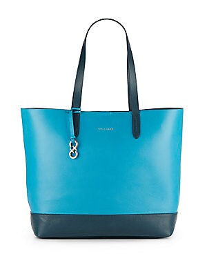 Palermo Two-Tone Leather Tote