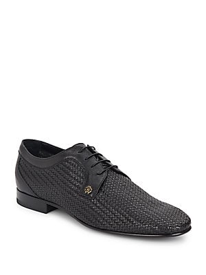Woven Leather Derby Shoes