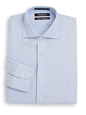Slim-Fit Corded Striped Dress Shirt