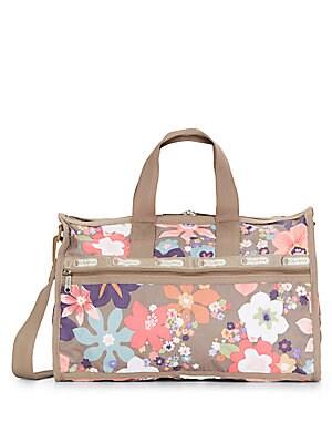 Medium Floral Print Weekender Bag