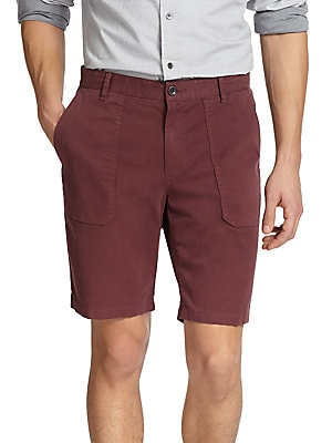 Brushed Twill Solid Shorts
