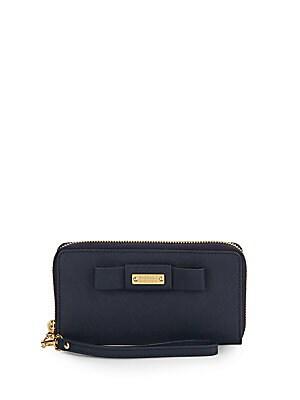 Stephanie Saffiano Leather Wristlet Wallet